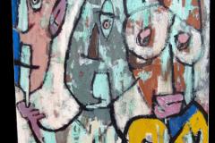 LOUIS XVI ou LE TIERS ETAT - Technique mixte sur toile 100x80