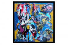 SONGE D'UNE NUIT D'ETE - Technique mixte sur toile 100x100
