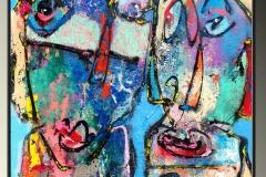 LEBERLOA (Nantes) technique mixte sur toile 100 x 100